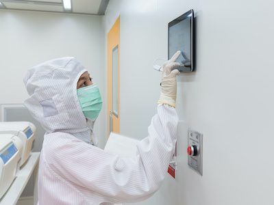 Cleanroom certified facility utilized by a professional to perform important research work by amts in houston, texas.