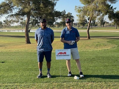 AM team members at the Arizona Pipe Trades 469 Golf Classic at McCormick Ranch Golf Club in Scottsdale, AZ